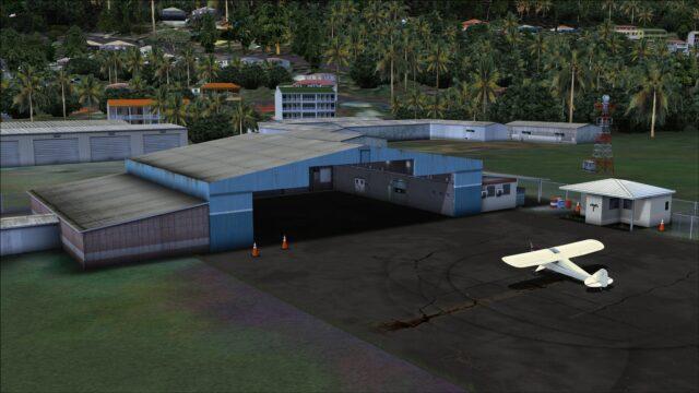 Detailed GA hangar