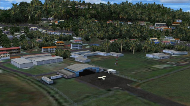 GA hangar and storage buildings