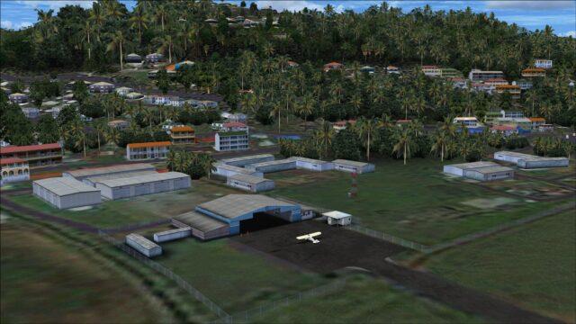 GA hangar and storage buildings