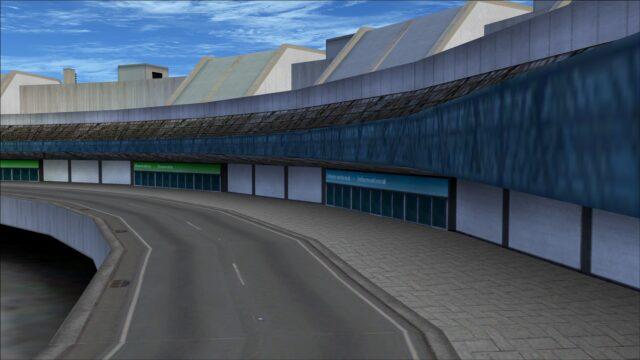 Terminal 2 arrivals road
