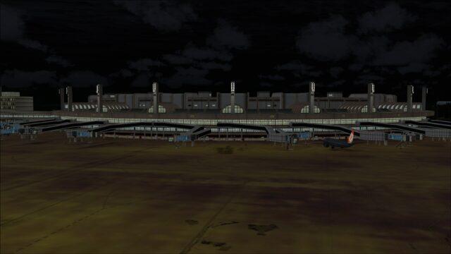 Terminal 2 at night