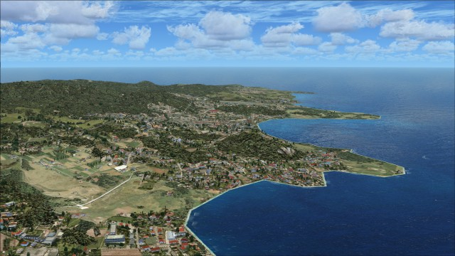 View from the west looking towards TVSV with FSX and no scenery addons