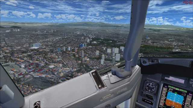 About to turn for final approach