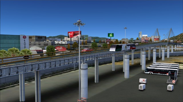 Animated Aerotrén monorail system between terminal 1 and 2
