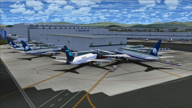 Close up view of the apron area