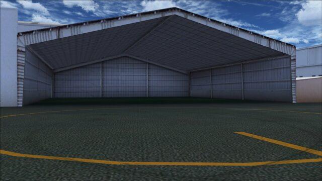 Example of open hangar