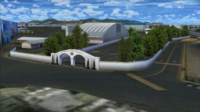 Gates to Presidential hangar area