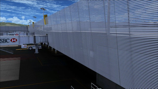Mesh wall on terminal 1