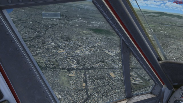 Pilot's view of Mexico City