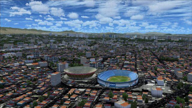 Plaza Azul and Estadio Mexico sports stadiums