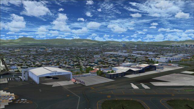Policia Federal and Aeromexico hangars