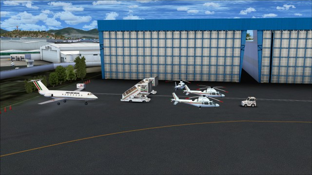 Static aircraft and helicopters