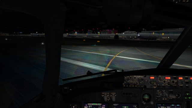 Taxiing to my gate