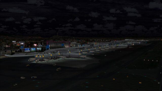 Terminal 1 and apron lighting