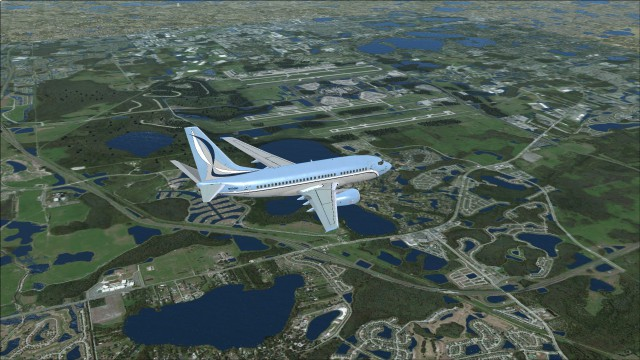 Flying over Orlando Airport