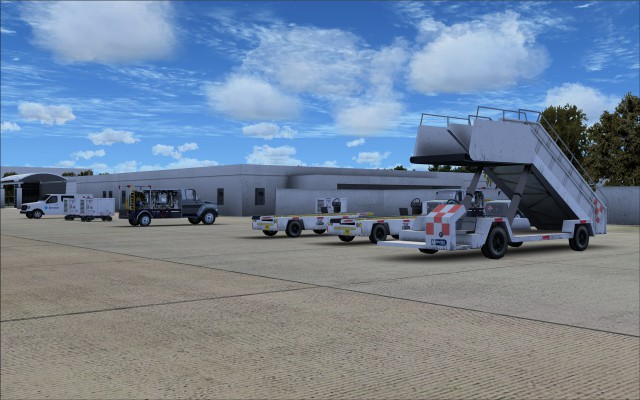 Fuel trucks, mobile stairs, portable power units