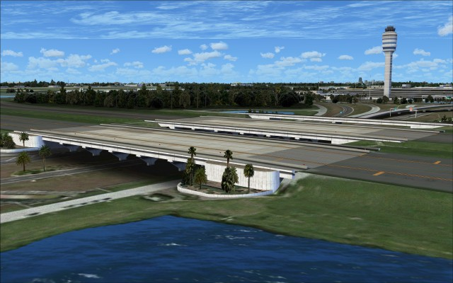 Taxiway bridges for taxiways E and F