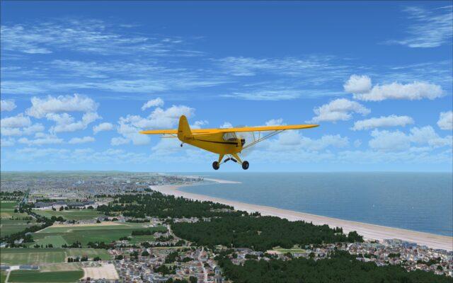 Coastal sightseeing flight