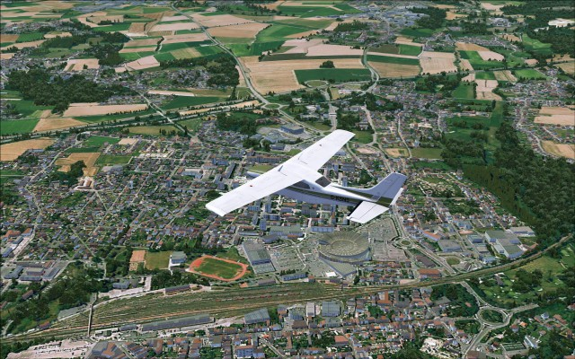 Flying over Bethune and the Ancienne Rotonde SNCF de Béthune