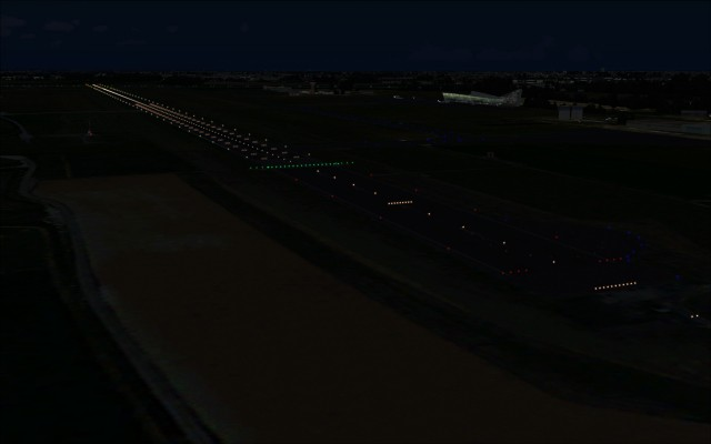 Runway lights at LFQQ