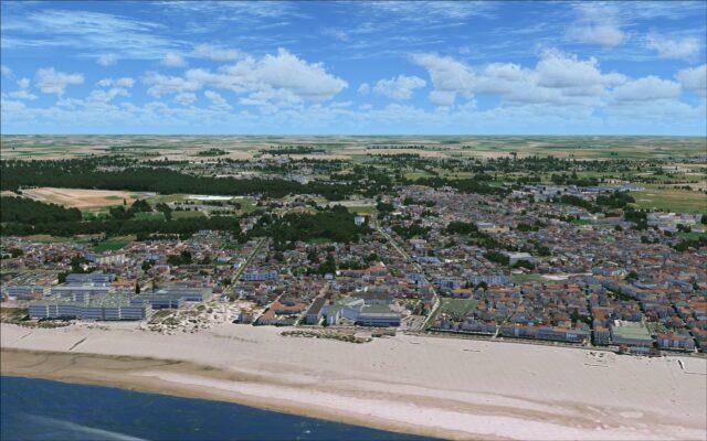 Typical coastal city