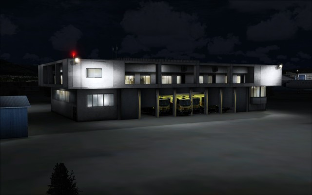 Fire station illustrates the different types of building lighting
