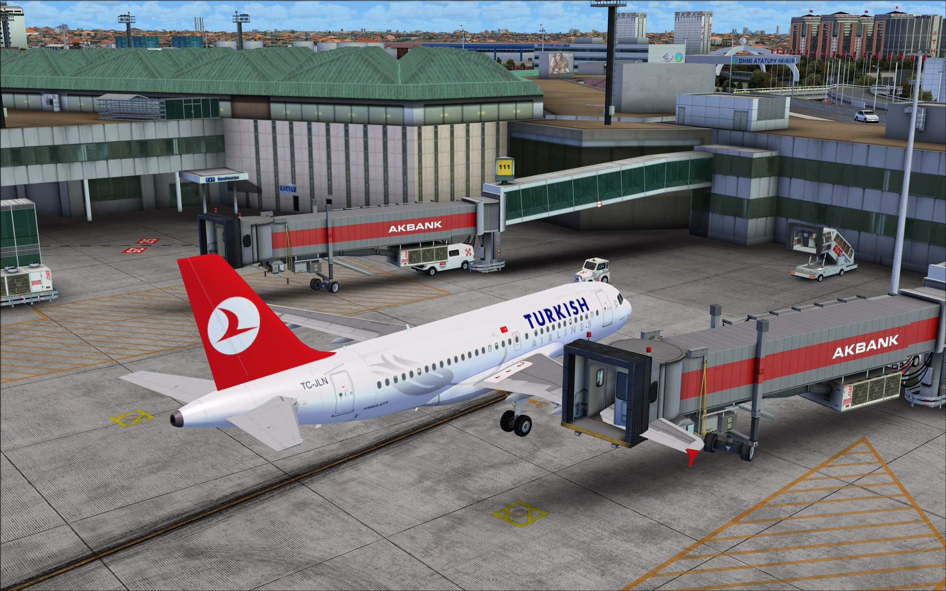 Review of taxi2gate istanbul atat rk airport ltba fsx for Location parking