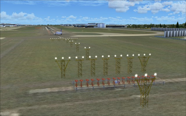 Approach lights for 09R