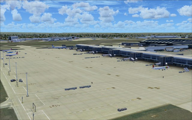 Apron textures show few signs of high traffic volumes