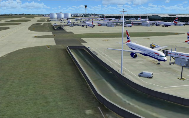 Entrance to tunnel passing under taxiway A