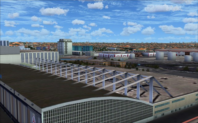 Interesting roof of the THY hangar