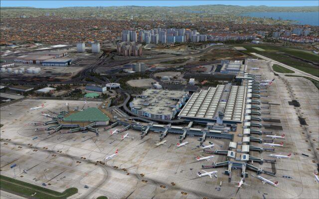 Overlooking terminals 1, 2, car park and cargo terminal