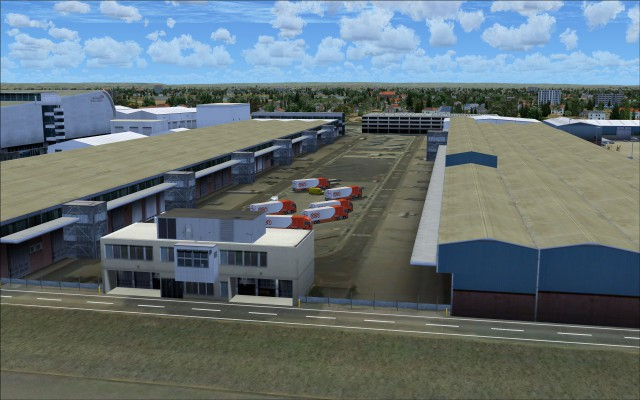 Some of the cargo handling buildings