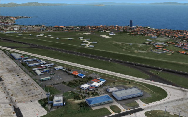 Southern portion of airport