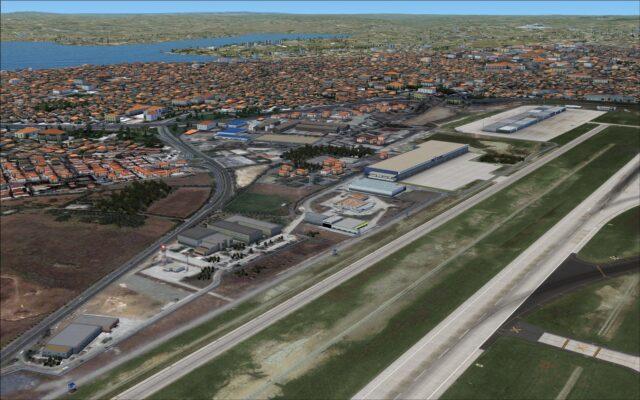 West side of runway 17R 35L