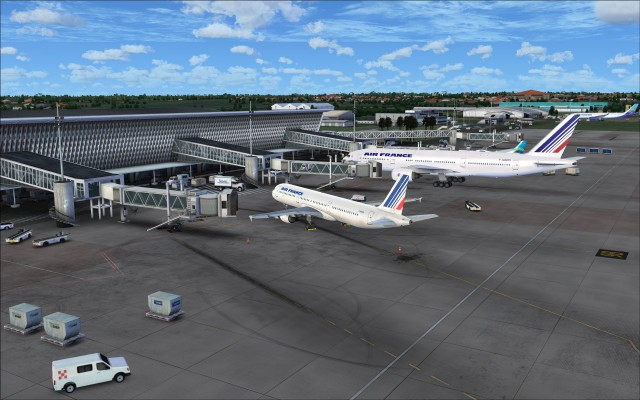 Closer look at the aircraft stands at the terminal