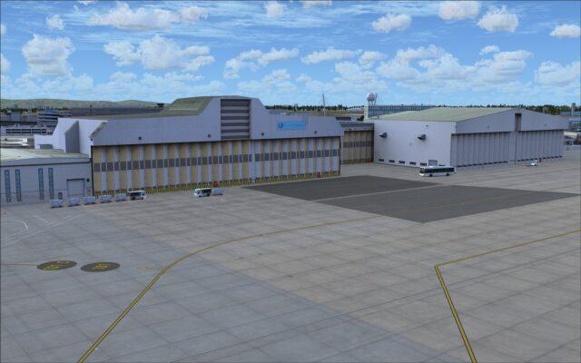 General aviation hangars on north apron
