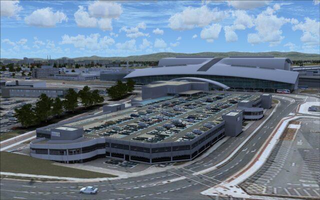 Multi-level parking garage for terminal 2
