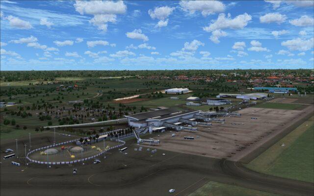 North of runway