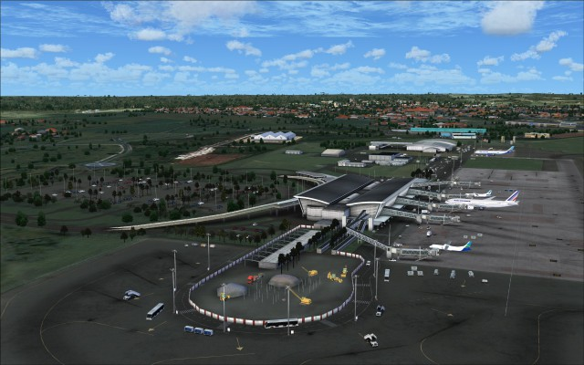 Overview of terminal including new construction zone