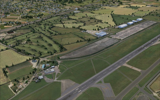 South of runway 10 28