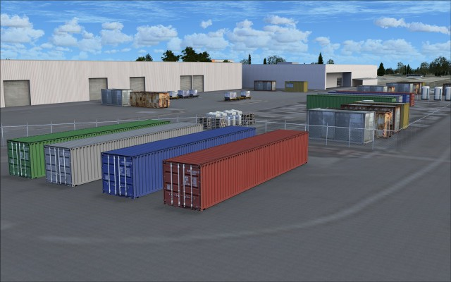 Storage containers, freight palets