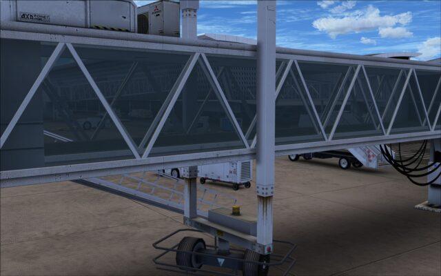 Transparent passenger bridge to jet way