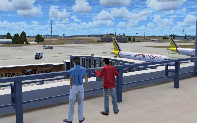 3D people on the terminal roof top