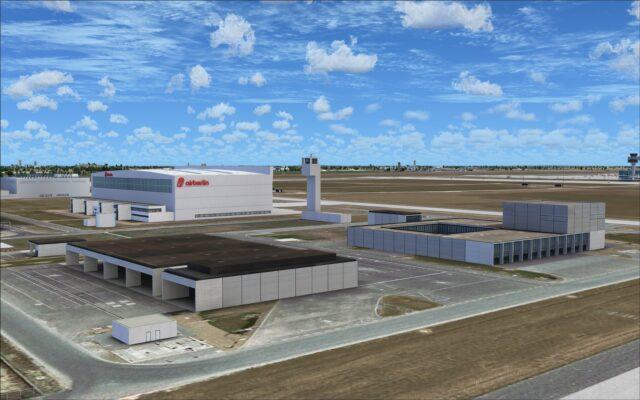 New buildings near the Airberlin hangar