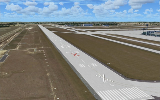 New runway in its disabled state