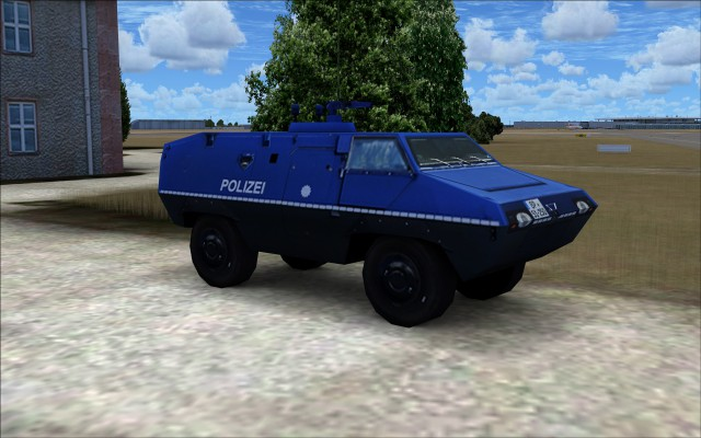 Polizei armoured vehicle
