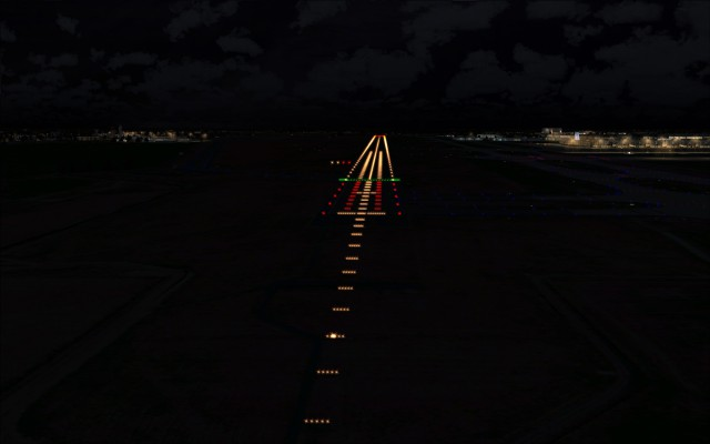 Runway 07R 25L enabled and lit up