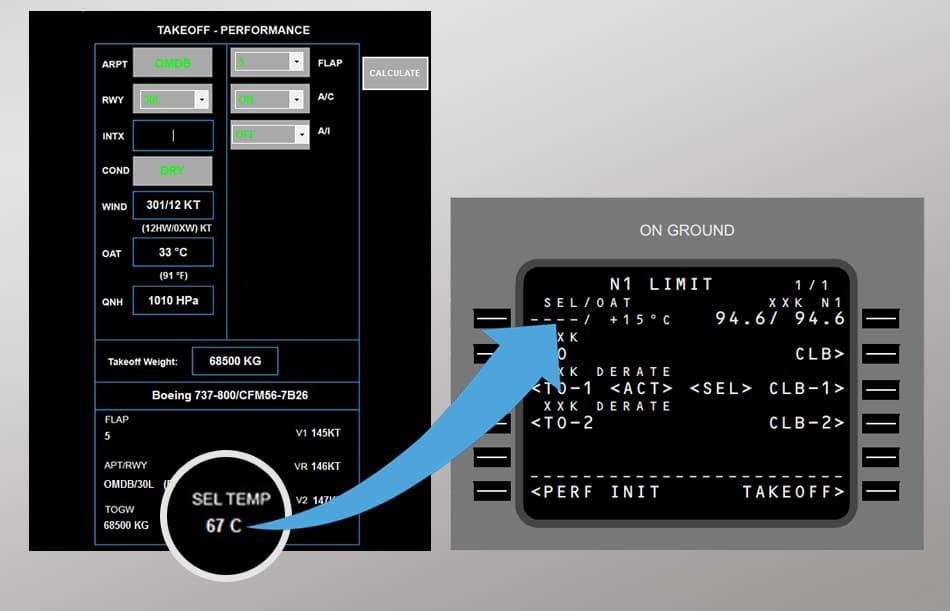 737NG Takeoff Performance Calculator