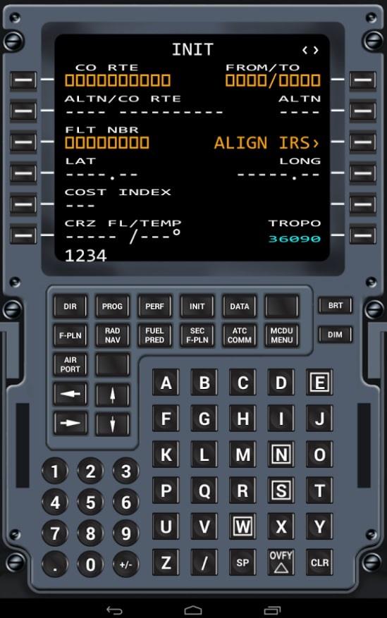 Virtual Cdu A320 For Android Amp Ios Virtual Avionics